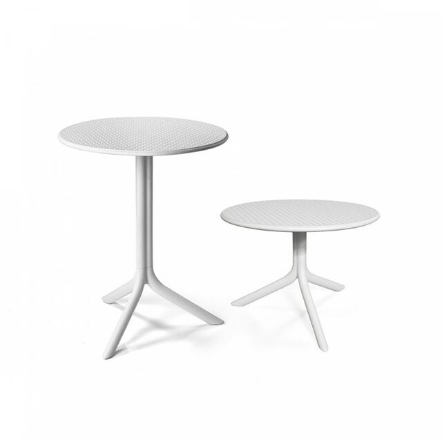 Step Height Adjustable Table White