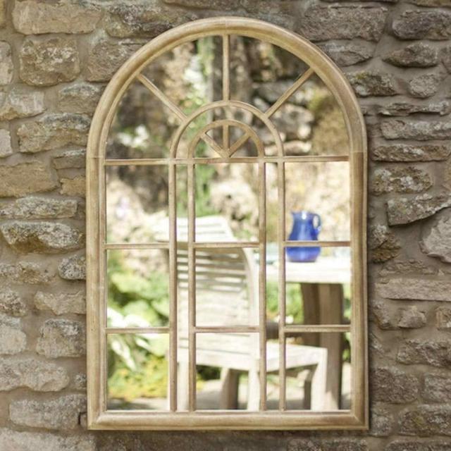 Rounded Arch Garden Mirror