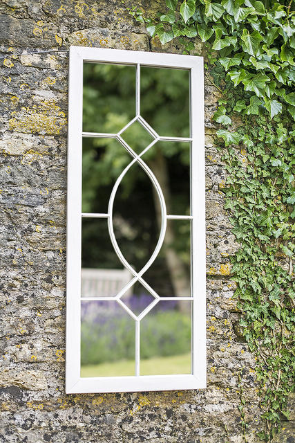 Tall Rectangular Garden Mirror