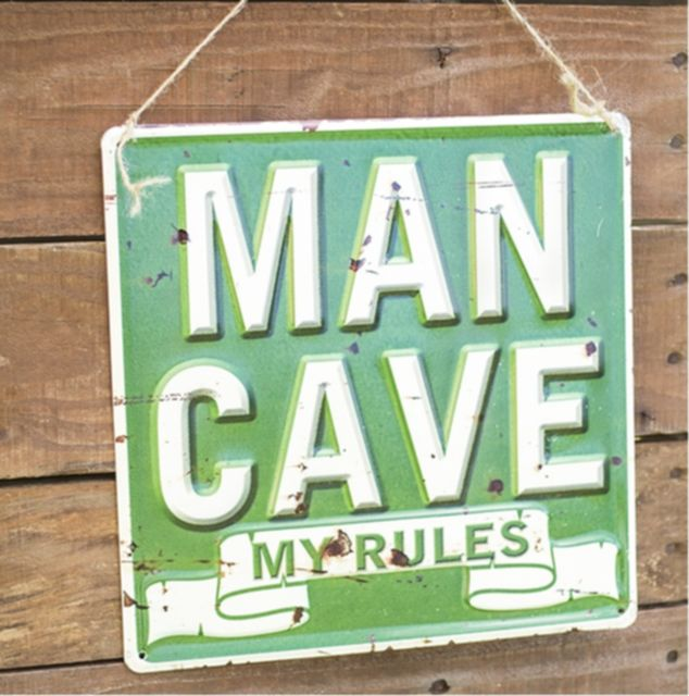 Man Cave Embossed Steel Sign