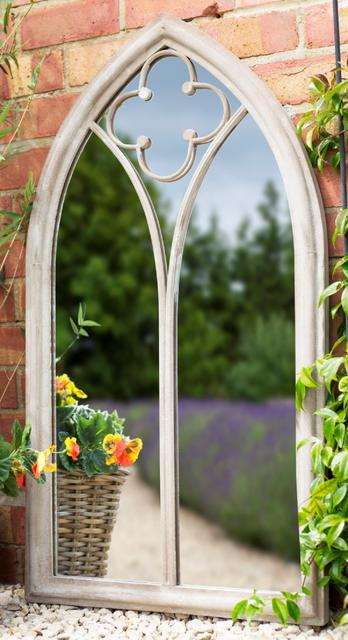 Church Window Garden Mirror