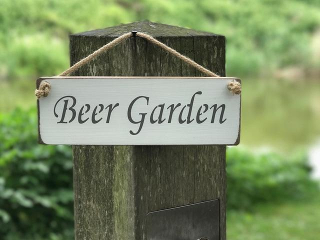 Beer Garden Wooden Sign