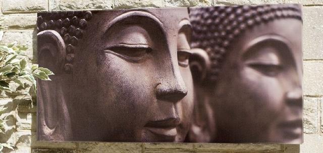 Buddha Heads Outdoor Canvas