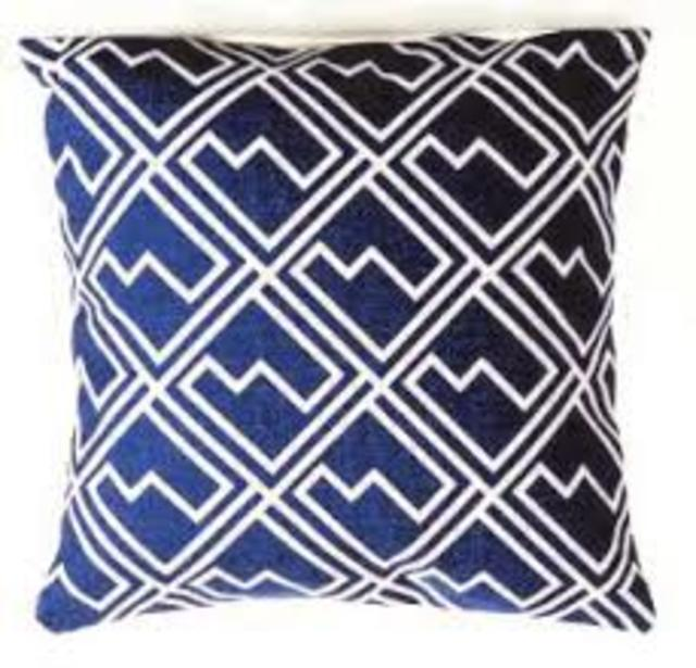 Blue Squares Scatter Cushion