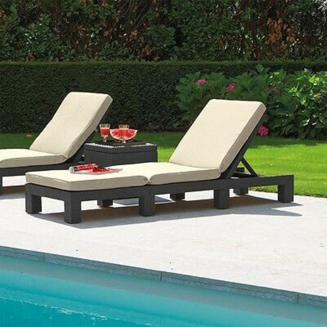 Daytona Sun Lounger Brown