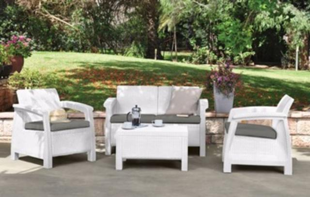 Corfu Sofa Set White