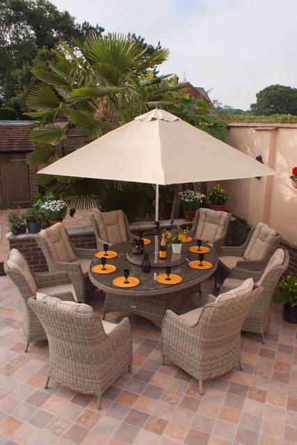 Rioja 210x150cm Elliptical Dining Set