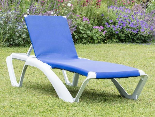 Marina Light Blue Sun Lounger