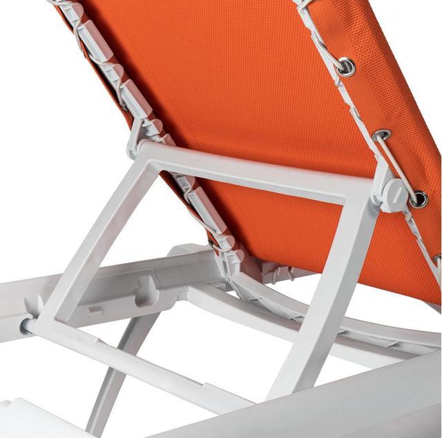 Marina Orange Sun Lounger