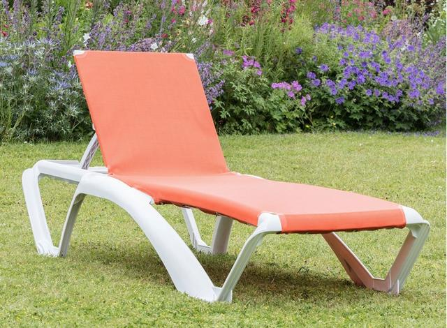 Marina Orange Sun Lounger
