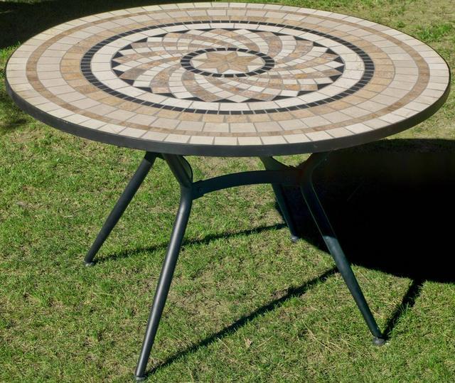 Shifa Round Mosaic Dining Table