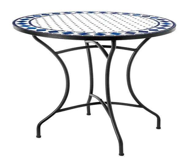 LDK Blue and White 90cm dia Mosaic Table