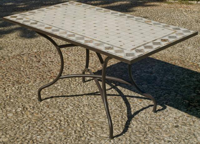 Hevea Nadira Rectangular Mosaic Dining Table