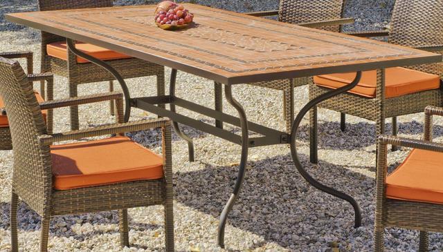 Hevea Liborne Rectangular Mosaic Dining Table