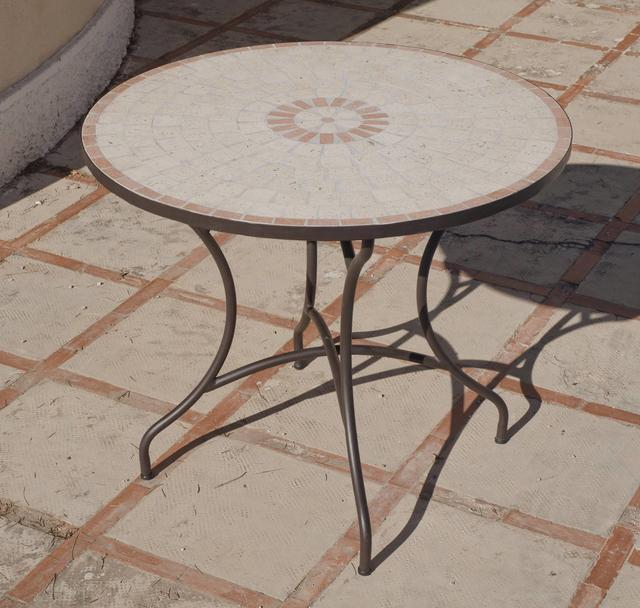 Hevea Korfu Round Mosaic Dining Table