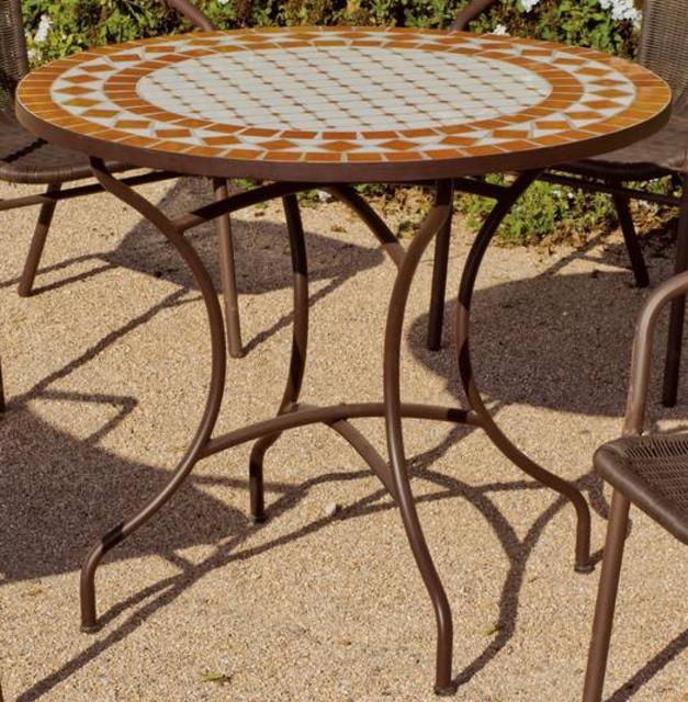 Hevea Berna Round Mosaic Dining Table