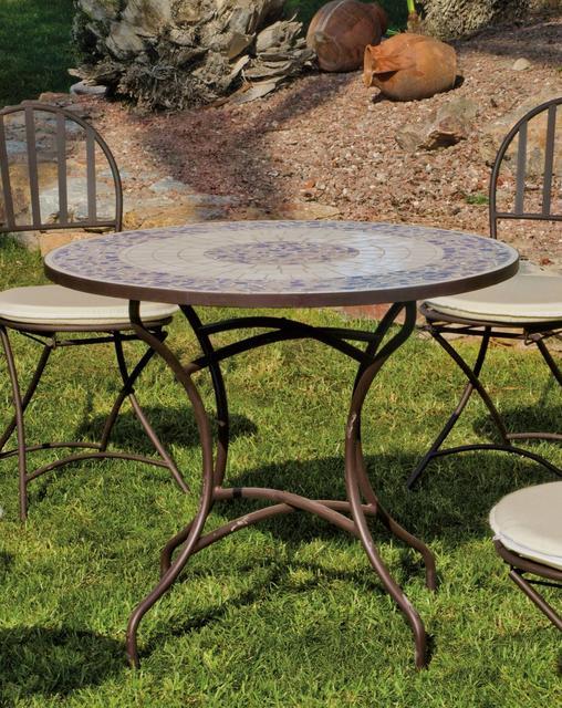 Hevea Marsella Round Mosaic Dining Table