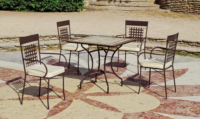 Virginia Square Mosaic Dining Table