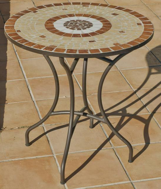 Claire Round Mosaic Bistro Table