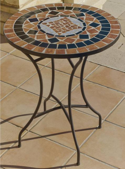 Yasir Round Mosaic Bistro Table