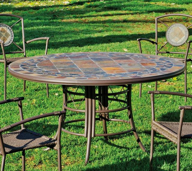 Hevea Sotomar Round Mosaic Dining Table