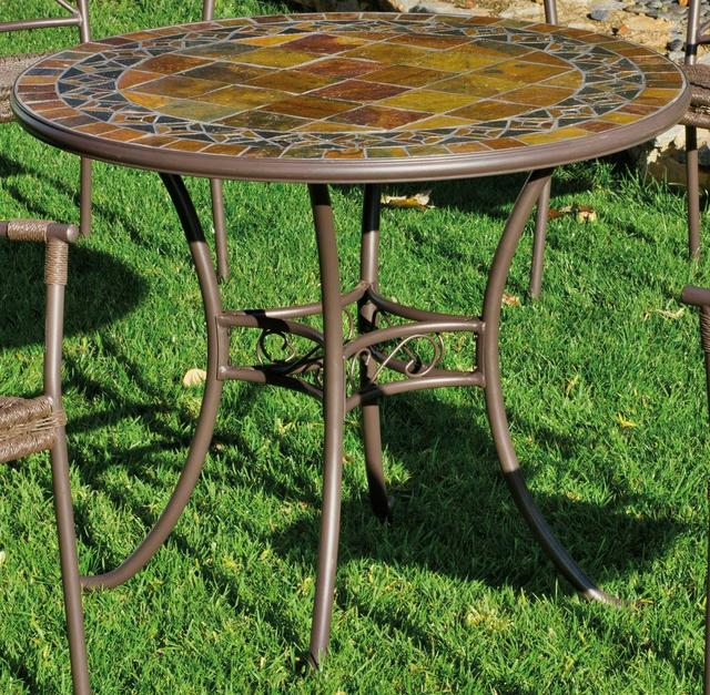 Hevea Cancun Round Mosaic Dining Table