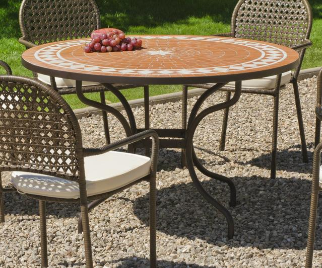 Lorny Round Mosaic Dining Table