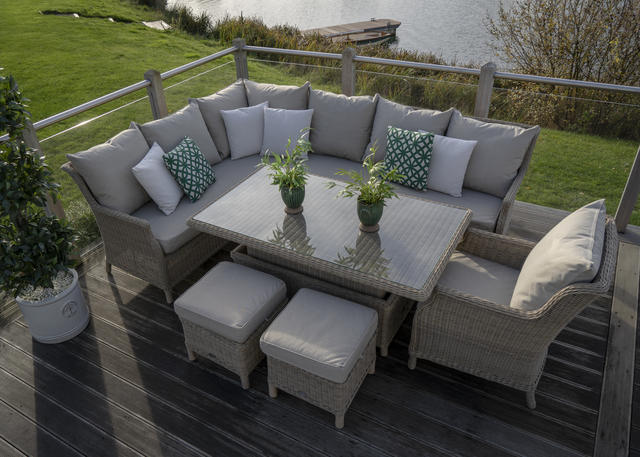 Bramblecrest Oakridge Modular Sofa Set with Height Adj. Table