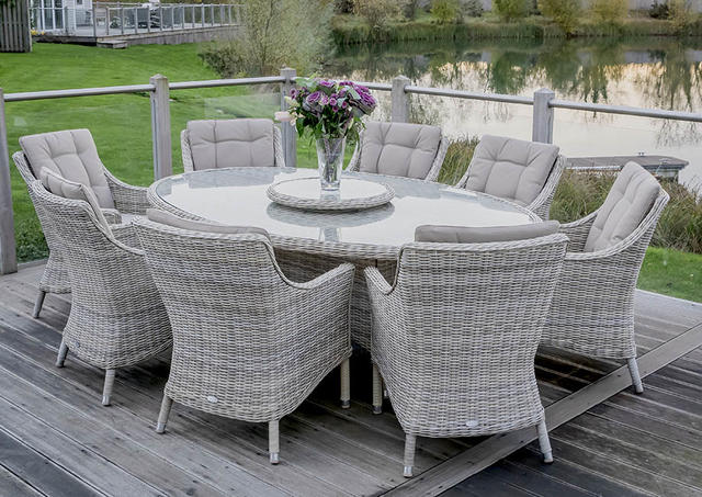 Ascot 220 x 145cm Elliptical Dining Set