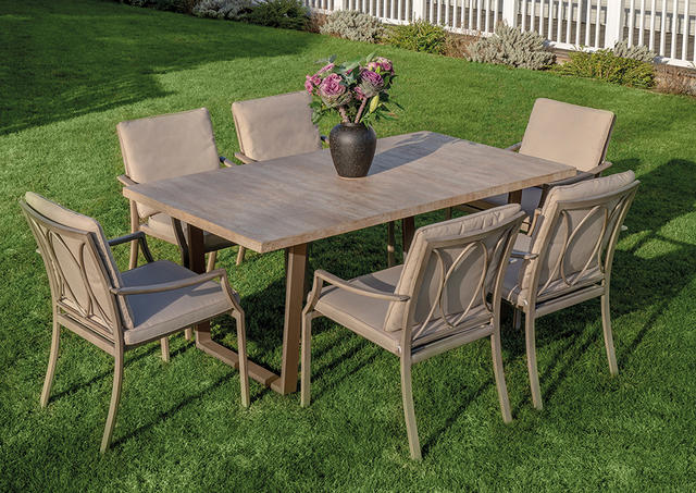 Dovedale 180 x 90cm Ceramic Dining Set