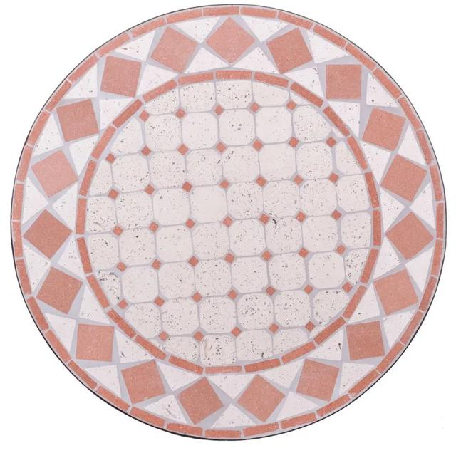 Coral Mosaic Table