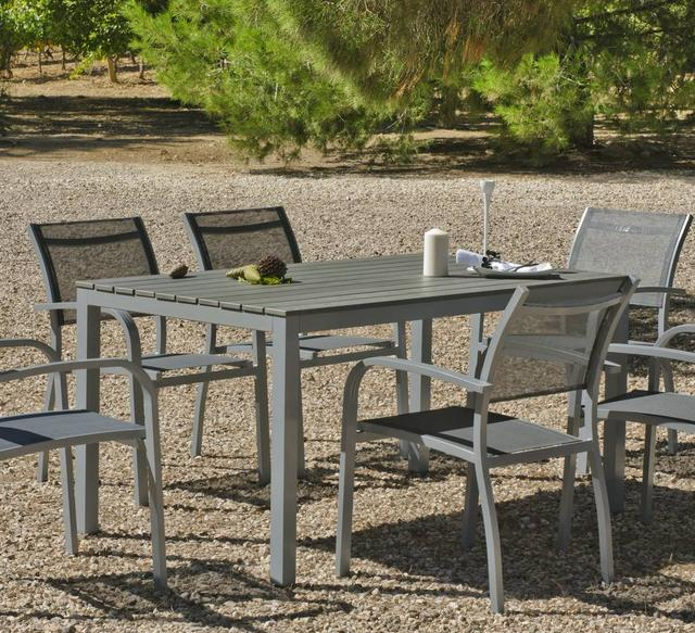 Hevea Denis 4 Seater Polywood Dining Set