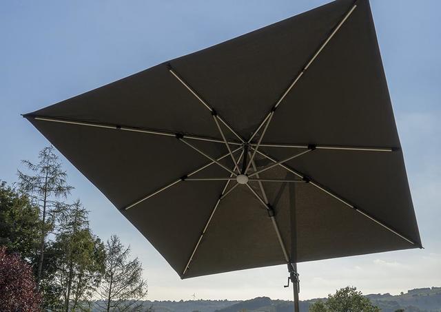 Chichester 3x3m Grey Parasols
