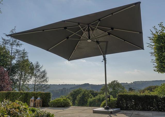 Bramblecrest Parasol Chichester 3x3m Grey Parasols