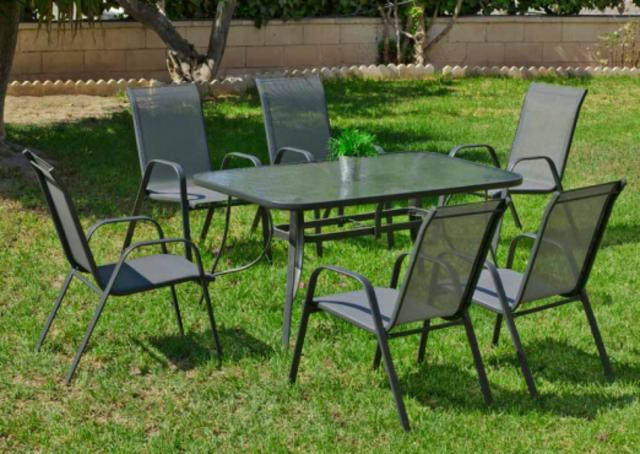 Sulam 150 x 90cm 4 Seater Dining Set