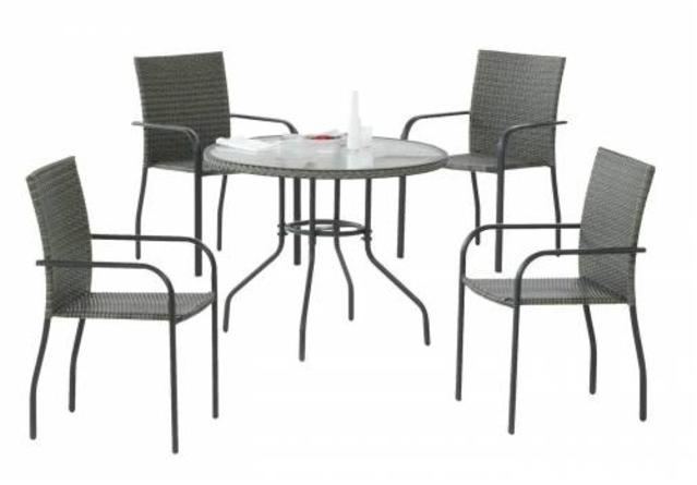 Carballo Round Dining Set