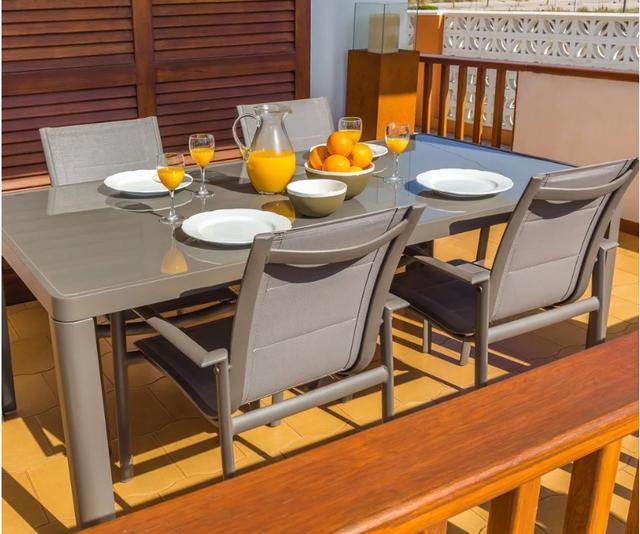 Estrella 180 x 90cm Aluminium Dining Table