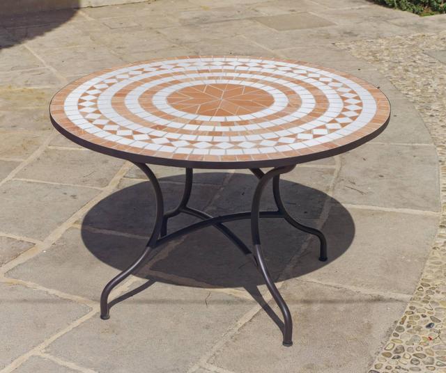 Dogliana Round Mosaic Table