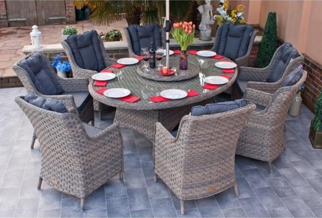 Rueda Woodash 210x150cm Elliptical  Dining Set