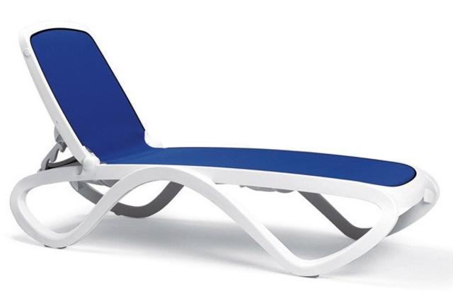 Omega Blue/White Sun Lounger