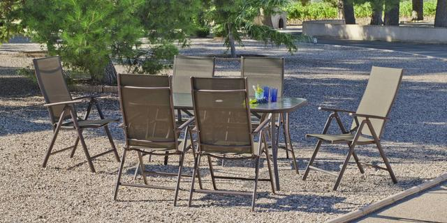 Macao 150 x 90cm 6 Seater Dining Set
