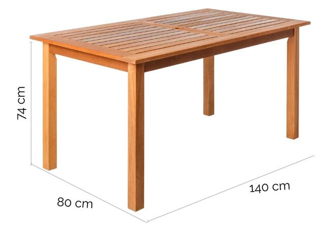 Kate 140 x 80cm Dining Table