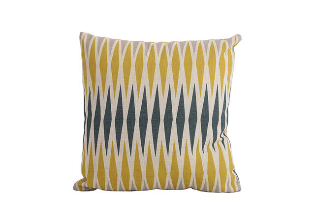 Bramblecrest Harlequin Yellow Squares Scatter Cushion