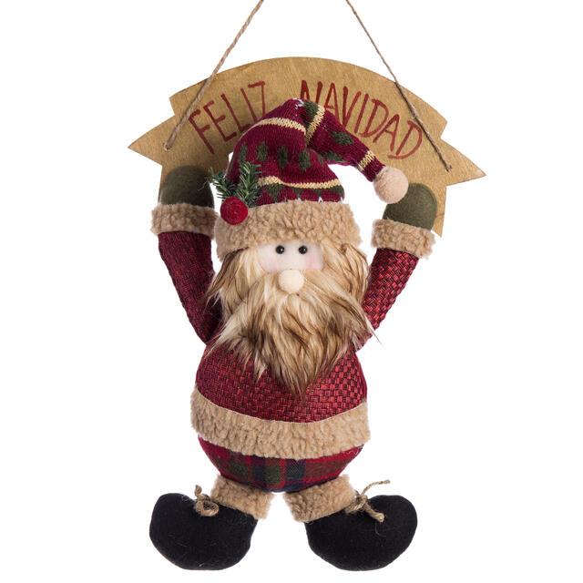Hanging Feliz Navidad Santa