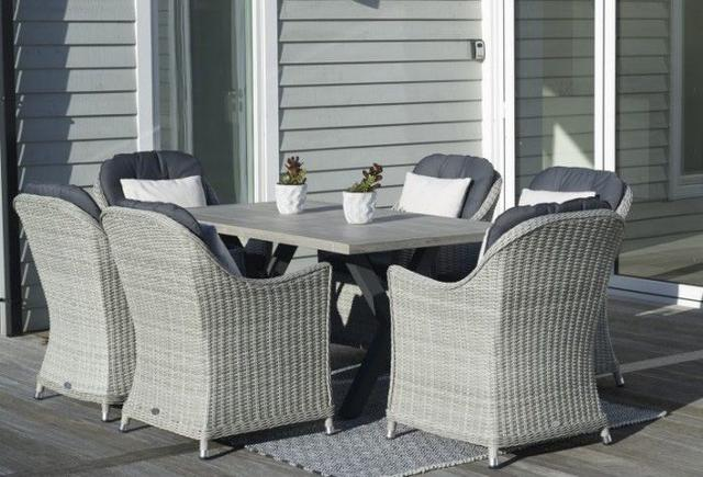 Monterey 155 x 90cm Ceramic Dining Set