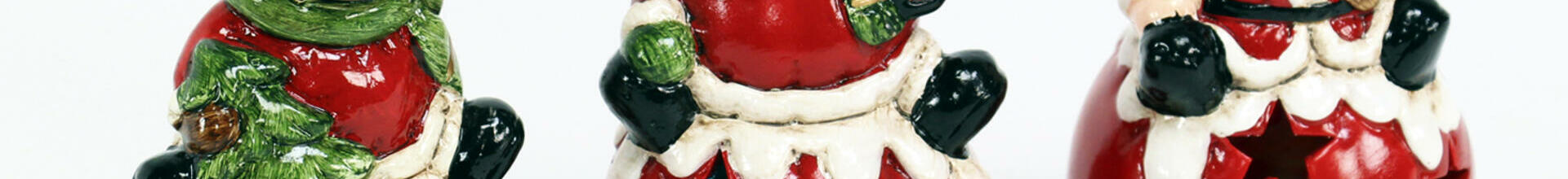 Ceramic LED Santa, Snowman and Reindeer