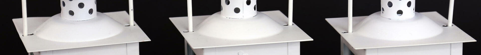 White Metal Tea Light Lanterns