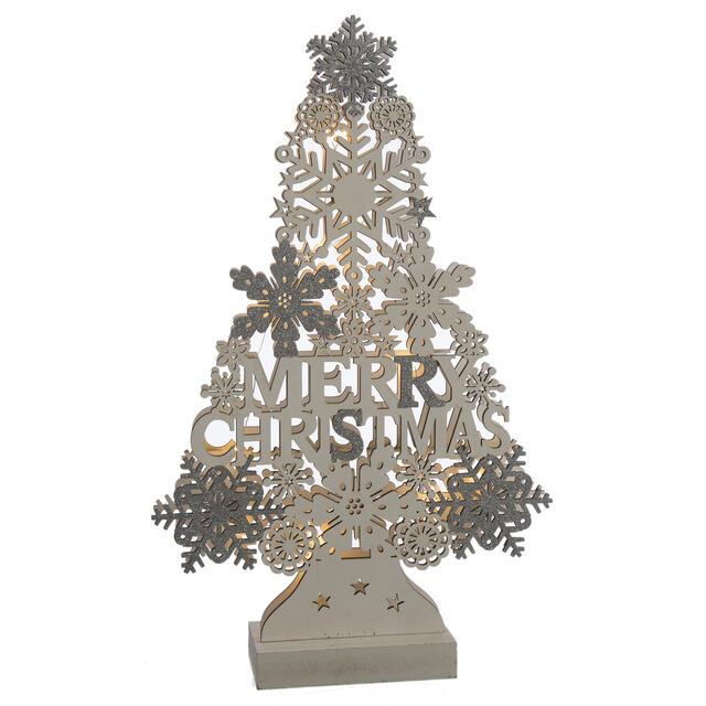 Wooden Christmas Tree LED Decoration