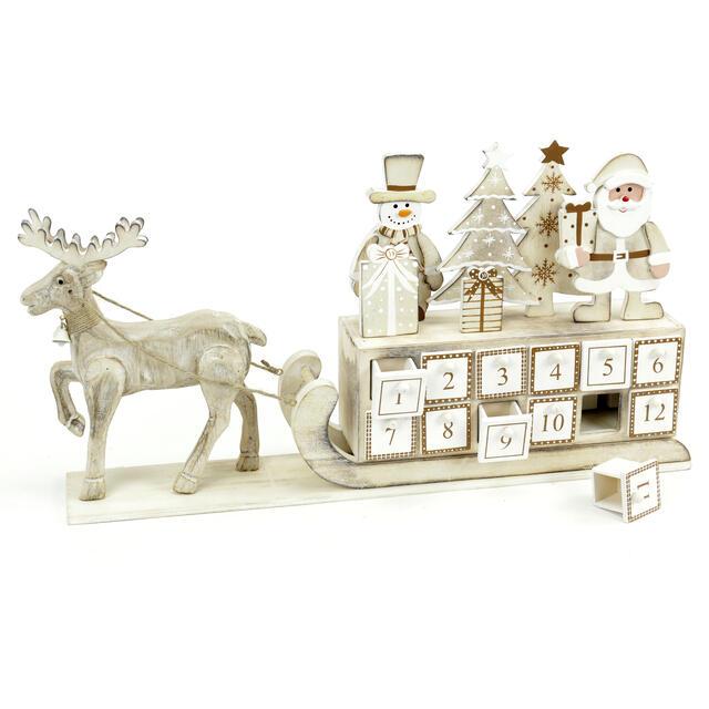 Wooden Reindeer Advent Calendar