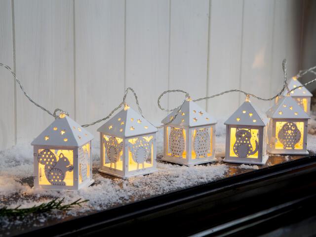 Wooden Animal Lantern Garland